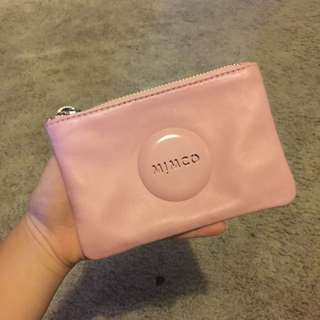 MIMCO Rose Pink Sheep Leather Small MIM Pouch