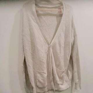 米白針織外套