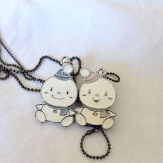Couple Necklace Snowman