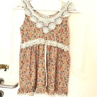 Flowery Korean Top