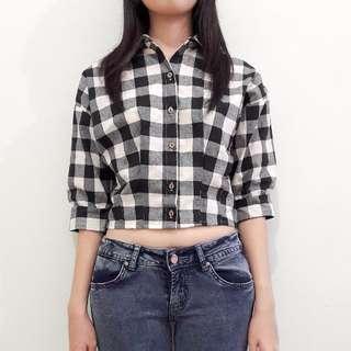 Batwing Checkered Shirt