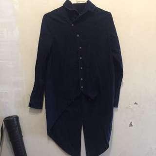 設計師品牌 深藍丹寧襯衫
