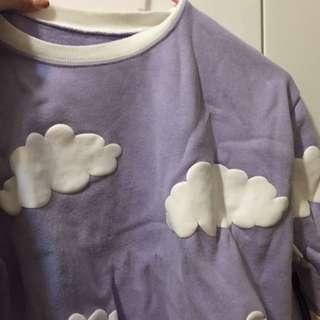 紫色雲朵上衣
