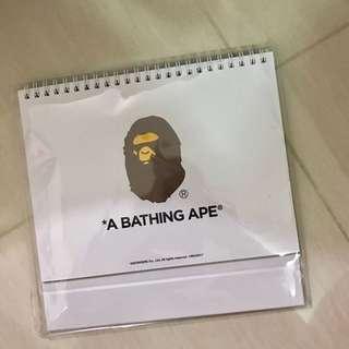 全新  Bape 迷彩 月曆 2017 A Bathing Ape