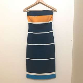 By Johnny Strapless Midi Dress