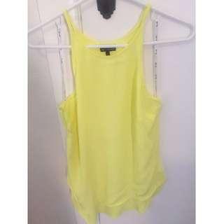 Bardot yellow top (size 8)