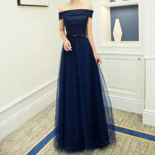 Sapphire Evening Gown