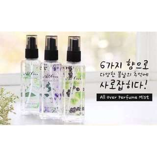 【無現貨,收預購】韓國 MISSHA-身體淡香氛噴霧 120ml