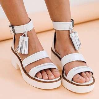 Windsor Smith White Chunk Sandals