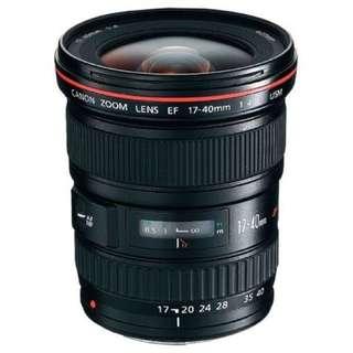 Canon EF 17-40mm L f4.0