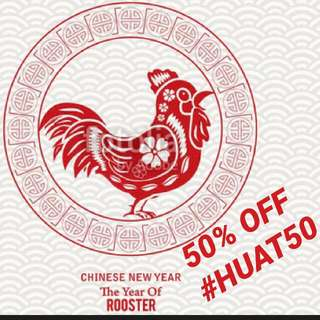 ✔✔ #HUAT50 SALE! 50% off on selected items ✔✔