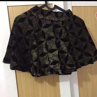 Black gold woman skirt