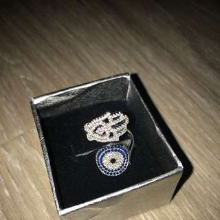 Evil Eye And Hamsa Hand Ring