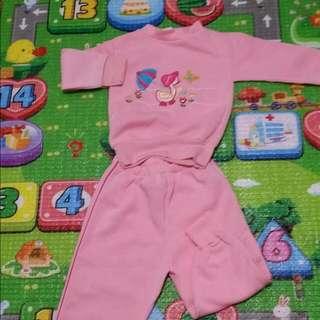 二手,女童裝,粉色,運動,休閒服,童睡衣,束口管,約1歲穿