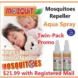 MOZQUIT Mosquitoes Repeller Aqua Spray