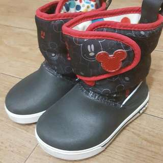 Crocs 黑色小童 Boots (Mickey Mouse) 9成新