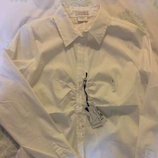 blouse white stretch