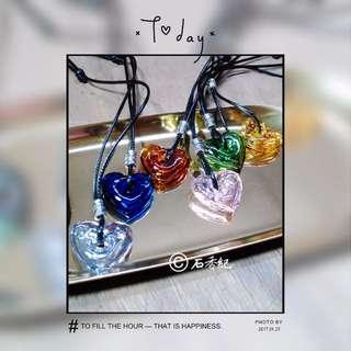 💎石香紀💎 愛心琉璃精油免塞項鍊 現貨
