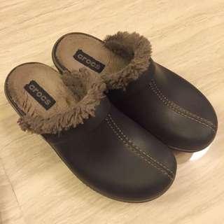 Crocs 毛毛鞋