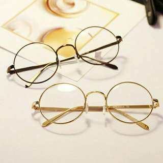 Korean Metal Frame Round Glasses👓