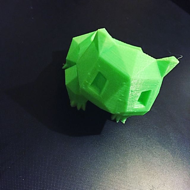 3D Printed Pokemon Bulbasur Green Plant Holder