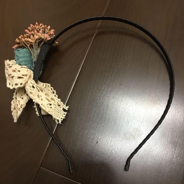 日系乾燥花髮箍