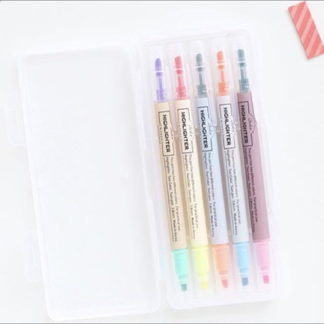韓國直購雙頭十色彩筆