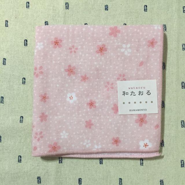 日本粉紅櫻花手帕