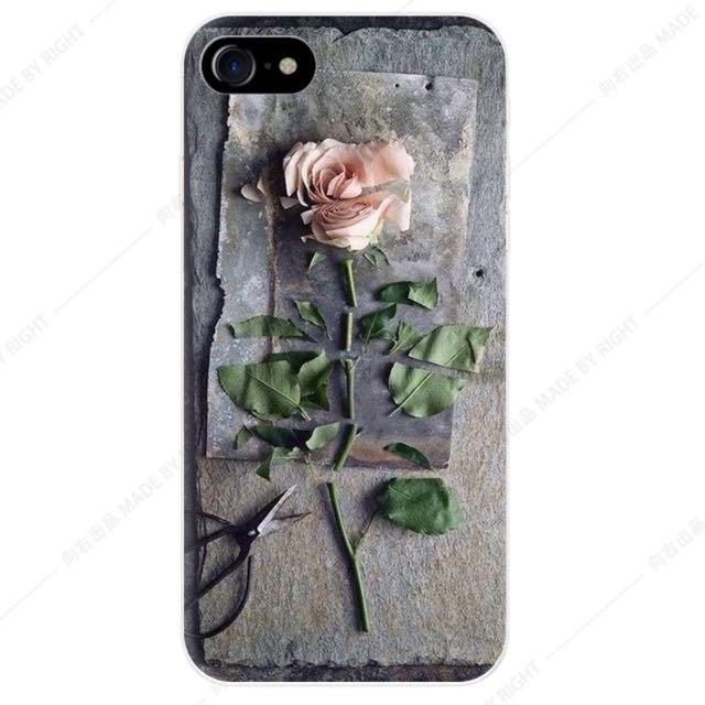 玫瑰磨砂手機殼