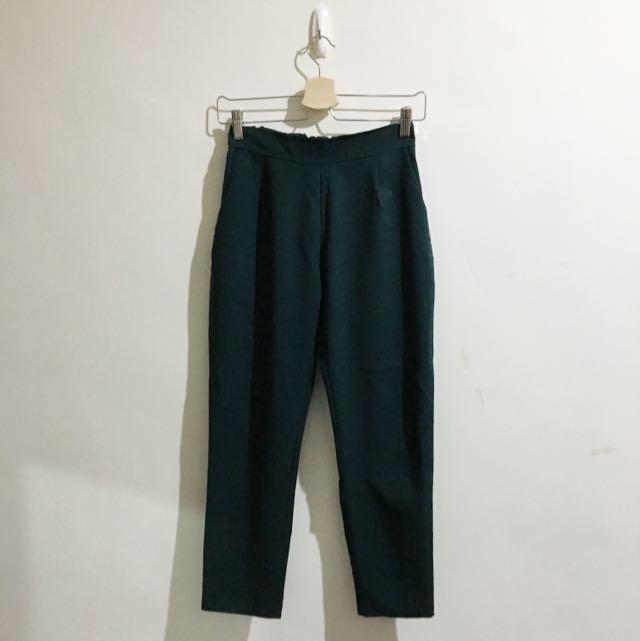 墨綠老爺褲