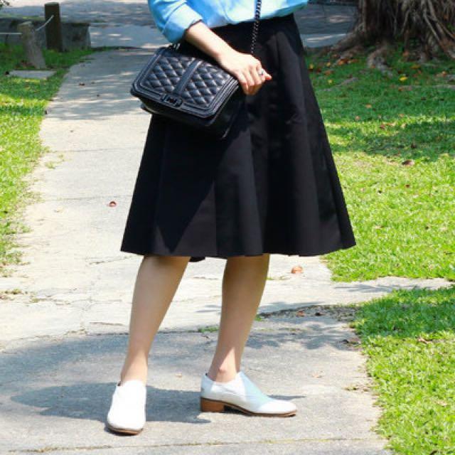 黑色A字圓裙