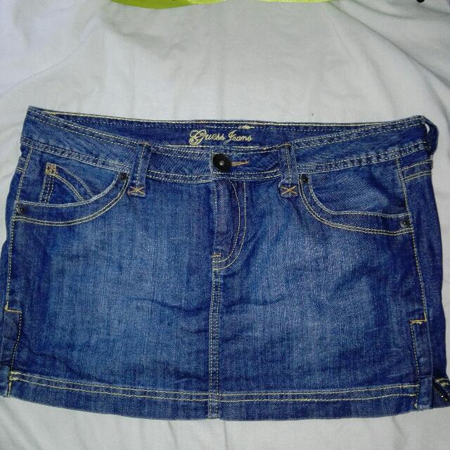 authentic guess mini skirt