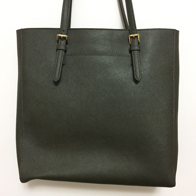 *Reduced from $100 Authentic Michael Kors Dark Olive Green tote bag