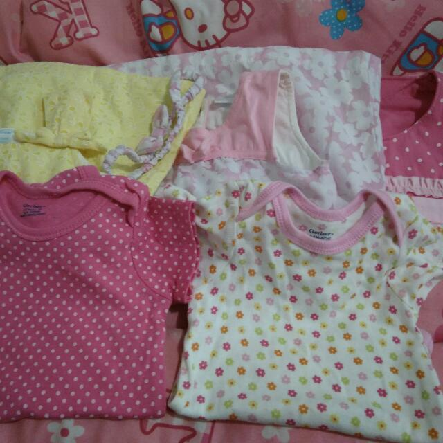 baby dress and onesies
