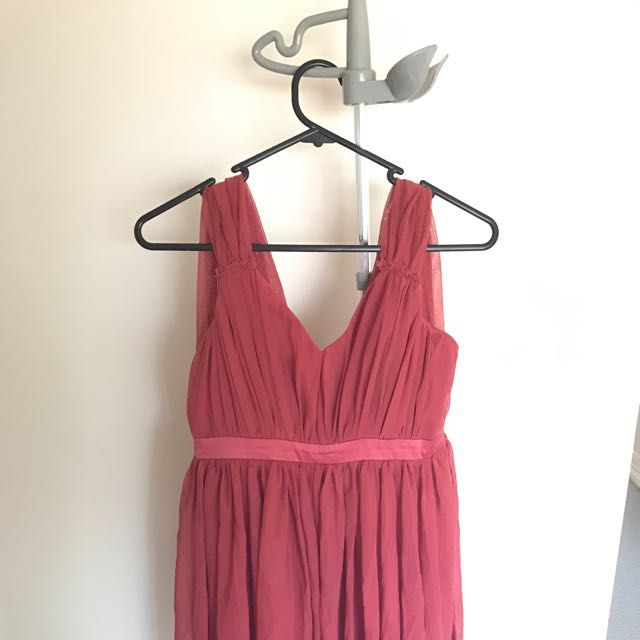 Bardot Red Chiffon Dress