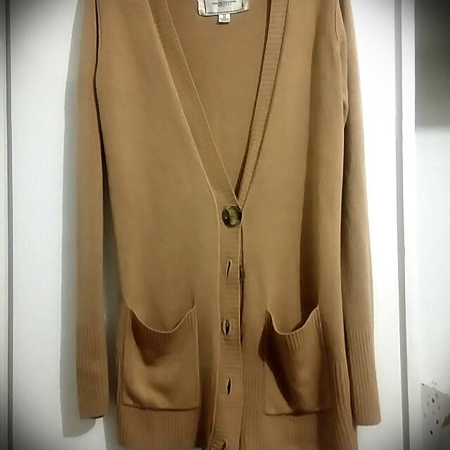 Beige Stretchable Cardigan