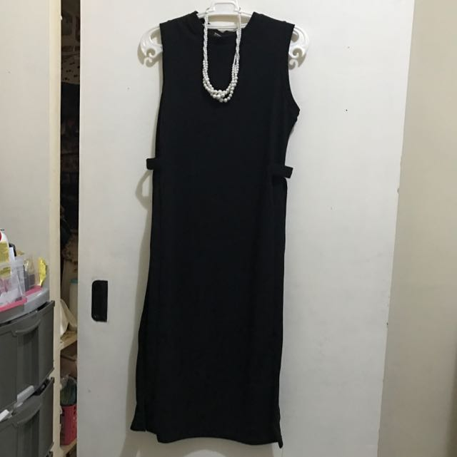 Black Blouse with Slit Side To Side