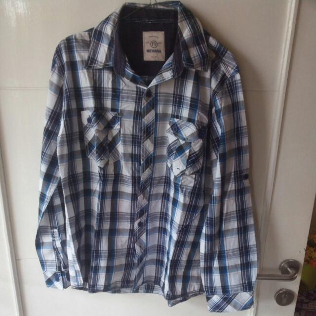 Blue Flannel Long Sleeves Shirt
