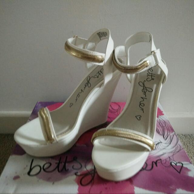 Brand New Betts White High Heel