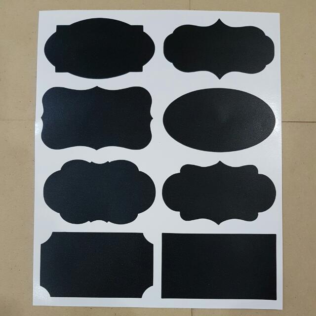 Chalkboard Label Sticker - Mixed For Jars, Drawer, Box, Etc