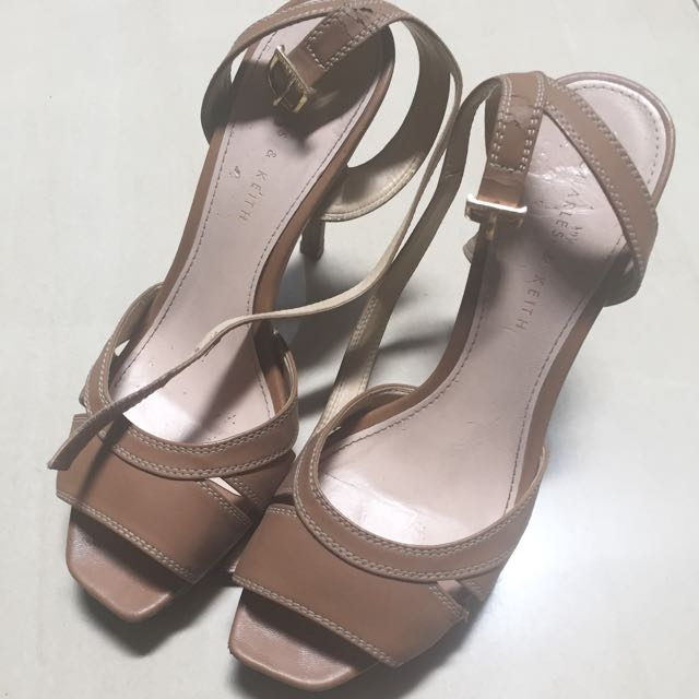 Charles And Keith Heels Soft Brown