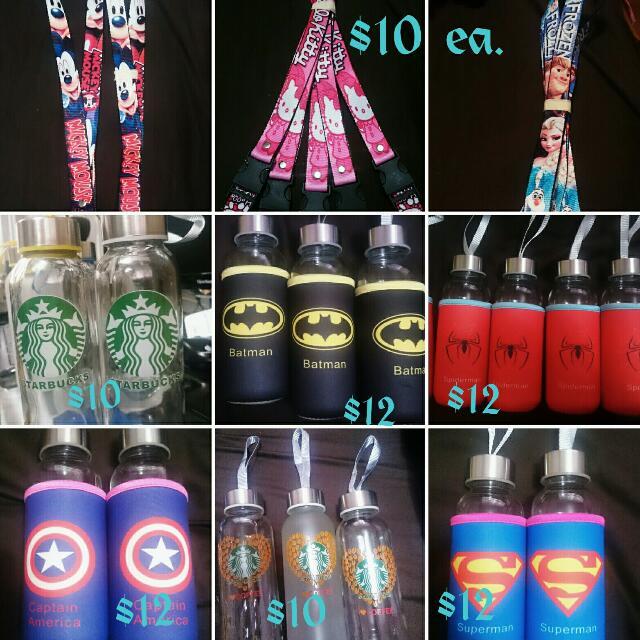 Collectible Superheroes,  Starbucks,  Lanyards