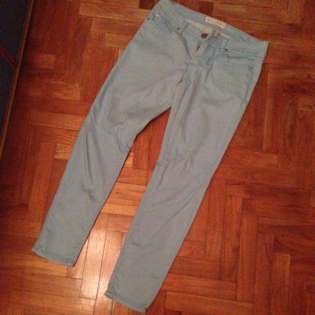 Cotton Jeans In Light Blue
