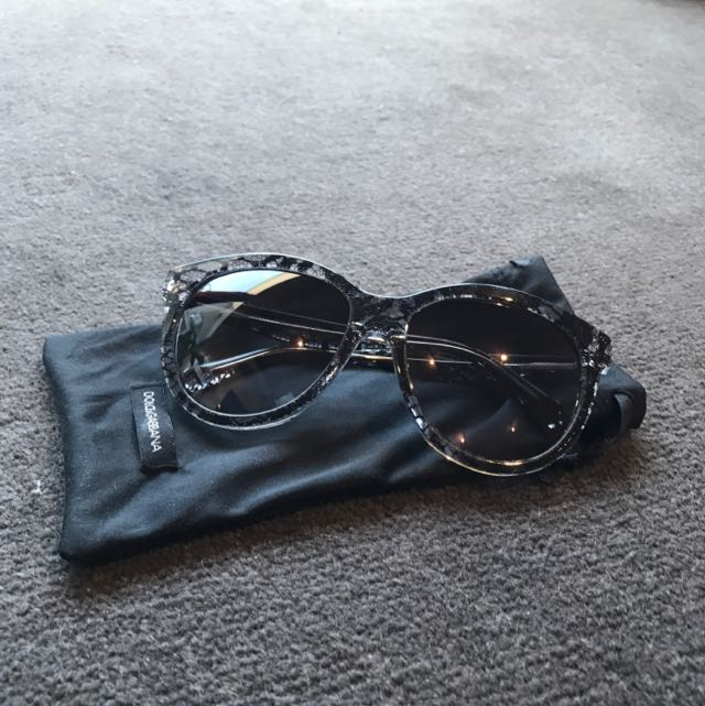 Dolce&Gabbana Lace Frame Sunglasses