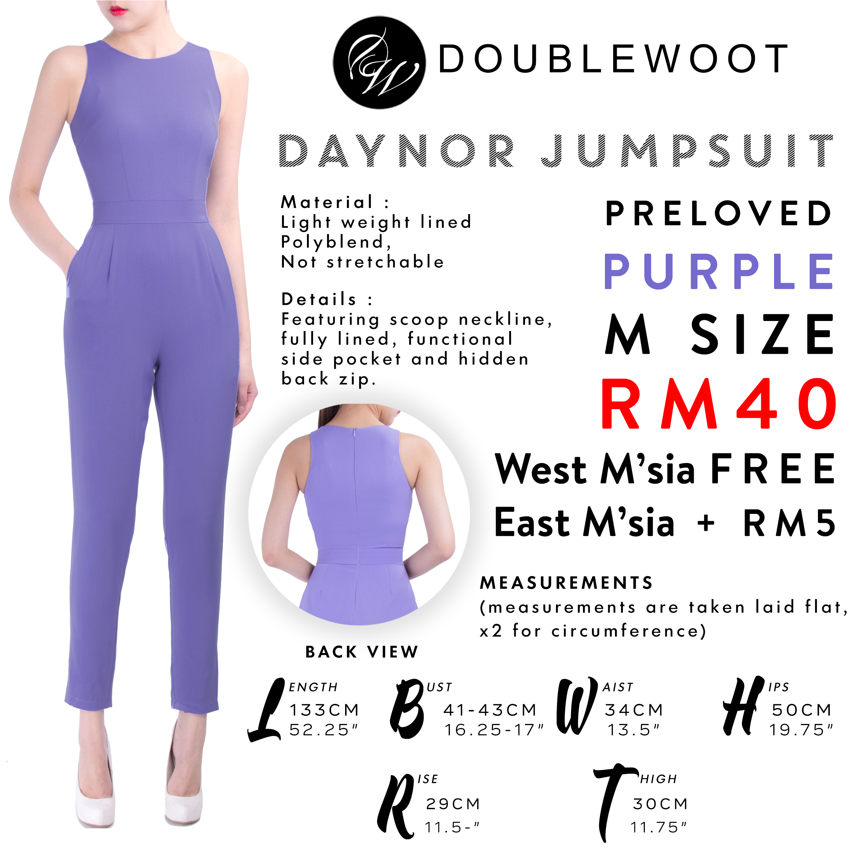 00e4f740b939 Doublewoot DAYNOR Jumpsuit (Purple) M Size