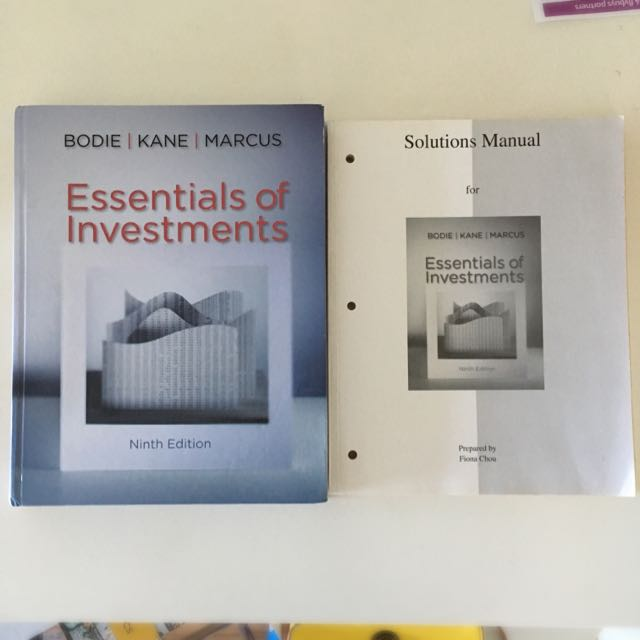 Essentials of Investments 9th Edition by Bodie Z, Kane A & Marcus AJ