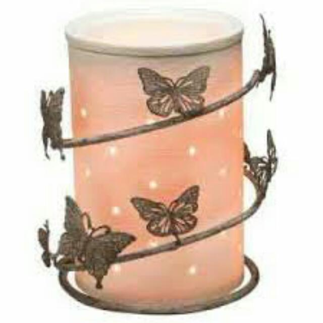 Etched Core Scentsy Warmer With OR Without  Butterfly Wrap