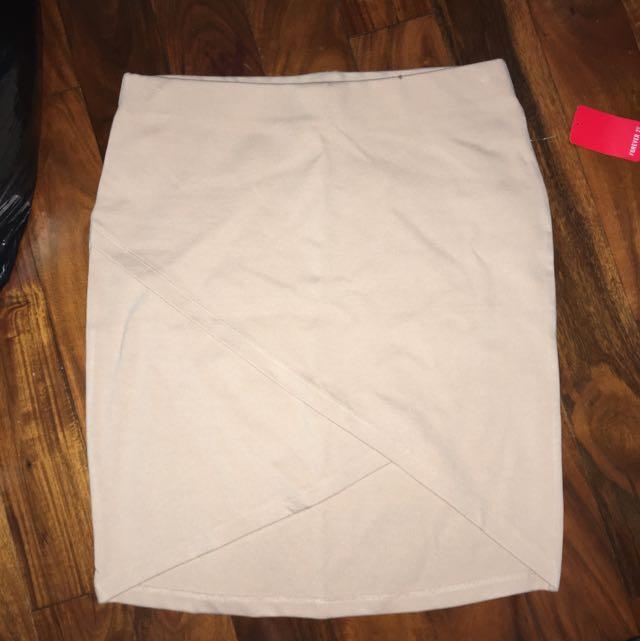 F21 Nude Skirt