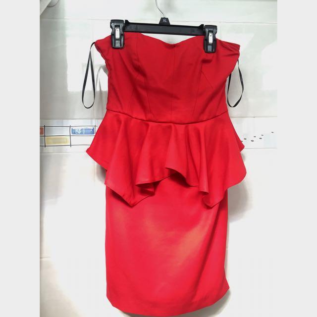 F21 Red Tube Dress