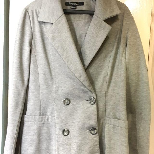 Forever 21 Grey Jacket/Blazer